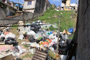 Lixo propicia o aparecimento de ratos (Foto: Pedro Diogo)