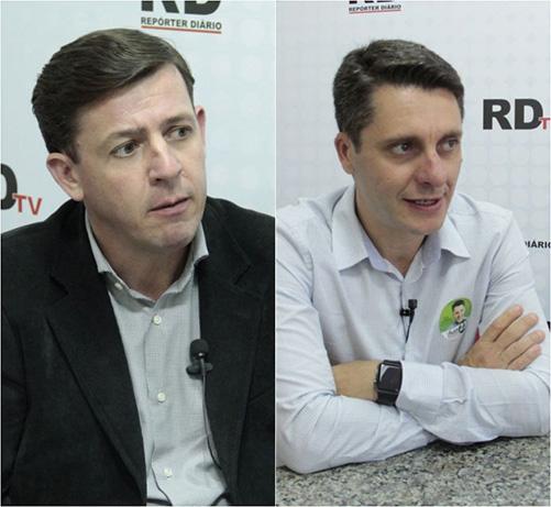 Alex e Orlando deram entrevista ao RDTv e falaram em enxugar máquina pública (Foto: Banco de Dados/ Reprodução)