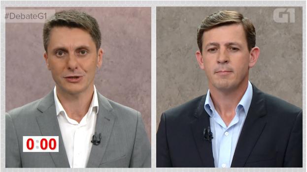 Este foi o último debate entre Morando e Manente no segundo turno (Foto: Reprodução/G1)