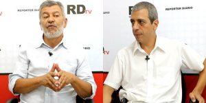 Turco e Chedade defenderam candidaturas de Grana e Serra, respectivamente (Foto: Reprodução/RDtv)