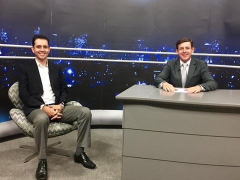 Morando entrevista Serra em sua volta a TV+ABC (Foto: Divulgação)