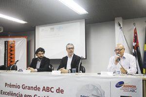 Executivos da Agência e Sebrae comandaram premiação (Foto: Divulgação)