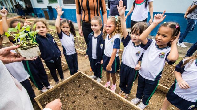 Ribeirão Pires inicia projeto Horta na Escola no Santa Rosa - Repórter Diário